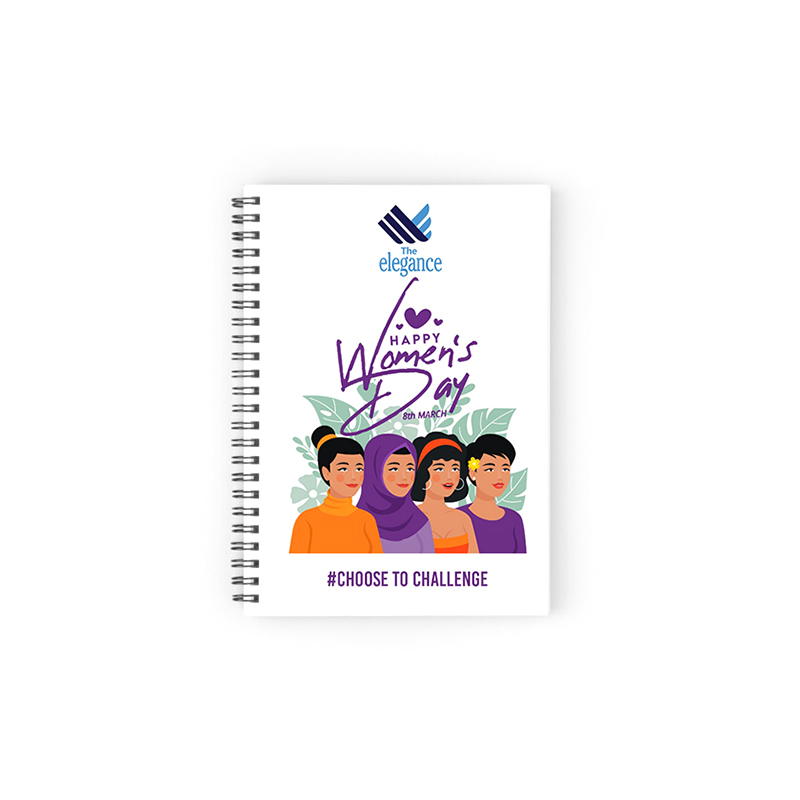Women Day your logo here notebook