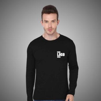bulk Wholesale Black Fullsleeves Tshirt with your company logo