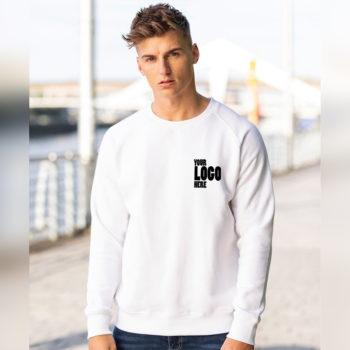 Bulk Wholesale White Sweatshirt with your company logo in Pakistan