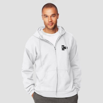 Bulk White Zipper Hoodie with your company logo in Pakistan