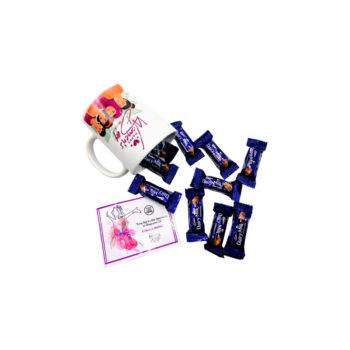 Chocolates Filled Mug for Women