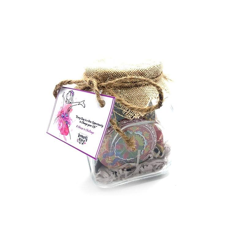 Mason Jar with Women Essentials
