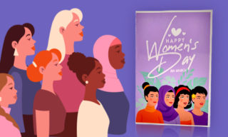 2. Custom Cards with Special Women's Day Quotes: