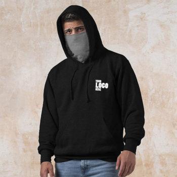 Black Hoodie with Mask Wholesale