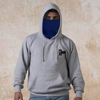 Grey Hoodie with Mask Wholesale