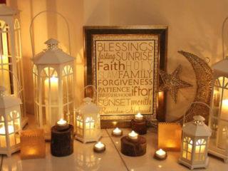 Ramadan Mubarak frames for a furnished office ambiance