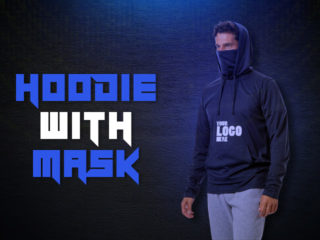 How About Hoodie With Mask in bulk with company logo?